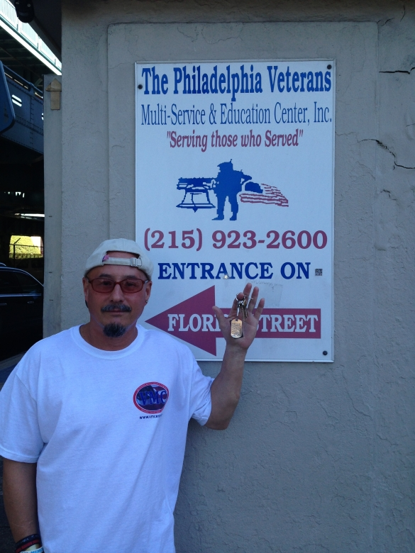 Veteran with keys to his own place